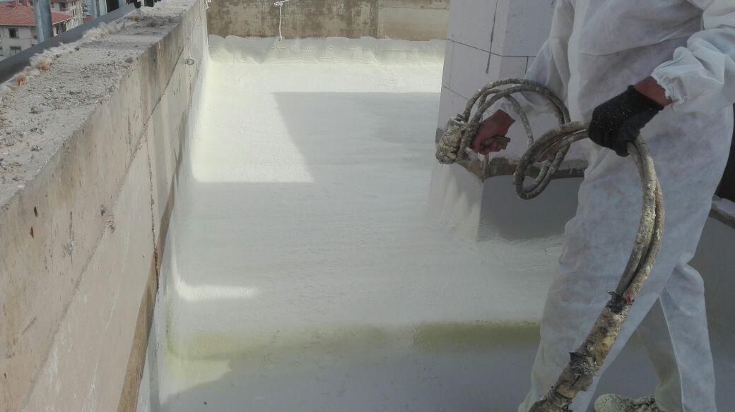 poliüretan köpük ile teras yalıtımı