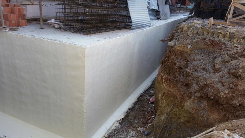 poliüretan sprey temel perde beton yalıtımı